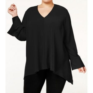 Rachel Rachel Roy Black V Neck Top 3X